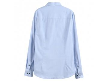 Camisa Masculina Slim Poás - Azul