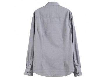 Camisa Masculina Slim Poás - Cinza