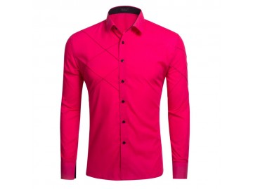 Camisa Masculina Slim Manga longa - Rosé