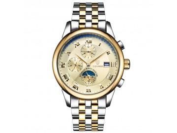 Relógio Tevise 9008 Masculino Automático Pulseira de Aço - Dourado