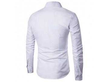 Camisa Masculina Social Slim Manga longa - Branco