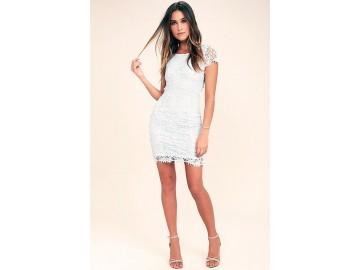 Vestido Curto em Renda Manga Raglán - Branco