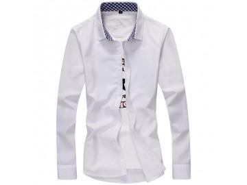 Camisa Masculina Slim Manga Longa - Branco