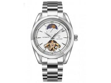 Relógio Tevise 795 Masculino Automático Pulseira de Aço - Branco