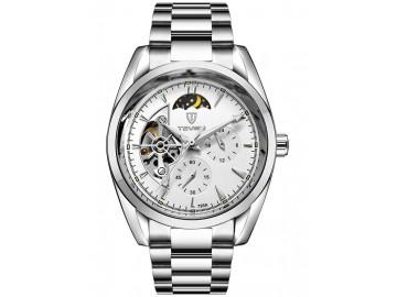 Relógio Tevise 795A Masculino Automático Pulseira de Aço - Branco