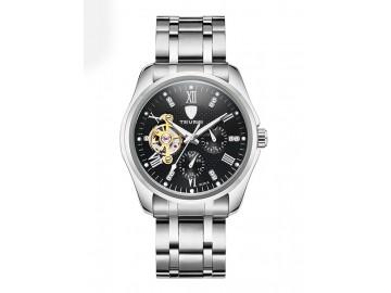 Relógio Tevise 8379A Masculino Automático Pulseira de Aço - Preto
