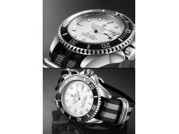 Relógio Tevise T801NL Masculino Automático Pulseira de Nylon - Branco